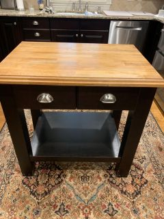 Gorgeous custom made butcher block island