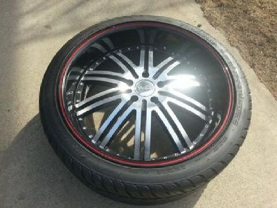 $1,400 Full Set of Versante Rims with LEXANI Tires FOR SALE