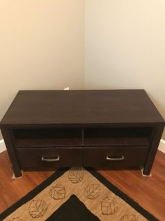 Brown 2 Drawer TV Stand