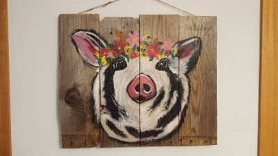 Hand painted pig