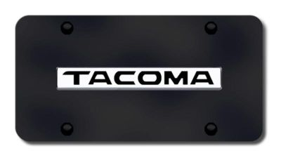 Find Toyota Tacoma Name Chrome on Black License Plate Made in USA Genuine motorcycle in San Tan Valley, Arizona, US, for US $36.43