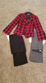 Coldwater Creek jacket size 4 & 2 pairs of pants size 4