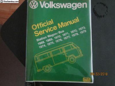 Volkswagen Official Service Manual 1968 - 1979
