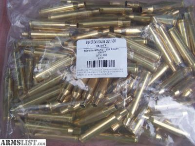 For Sale: 220 Swift & 204 Ruger Brass