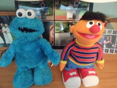Sesame Street Ernie and Cookie Monster Laughing Moving Toys