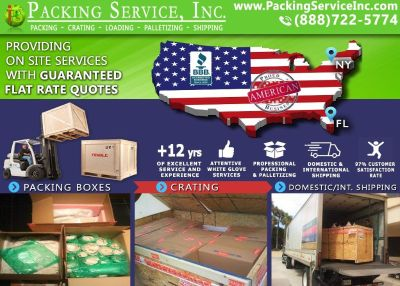 Packing Service, Inc. Cargo Shipping and Moving Quotes - Tampa, Florida