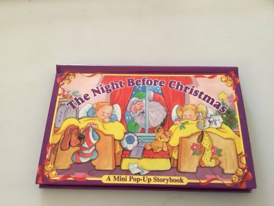 The night before Christmas pop up hard cover book