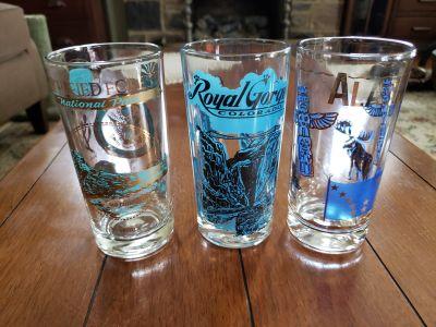 Set of 3 Vintage Souvenir Glasses