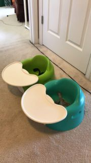 Bumbo seats -Two available. Both have trays and straps. Clean. $15 each.