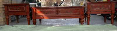 Nice Wooden Coffee Table w 2 Matching End Tables