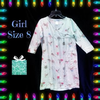 **** SO CUTE **** GIRLS SIZE 8 SUPER SOFT DESIGNER FLANNEL CHRISTMAS NIGHT GOWN