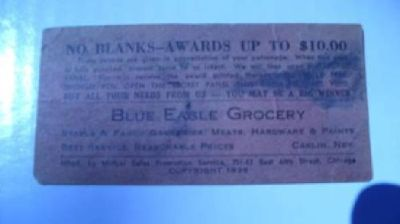 $20 Rare 1936 Carlin NV Trade Card (Like Trade Token)