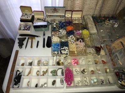Hammond Estate Sale! Costume Jewelry,..
