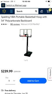 Basketball goal New