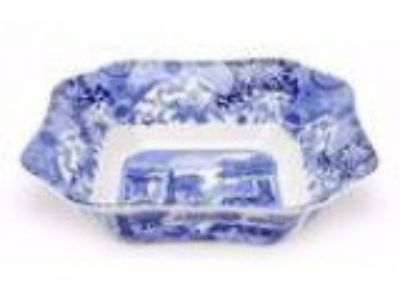 Spode Blue Italian Square Dinnerware Bowl. Brand new in box