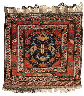 Handmade antique Persian Malayer bag face, 1B334