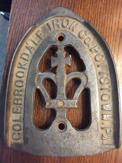 Awesome vintage Colebrookedale Iron Co Pottstown PA iron trivet stand