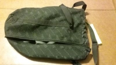 PAMPERED CHEF CONSULTANT'S TOOL TURN ABOUT BLACK BAG