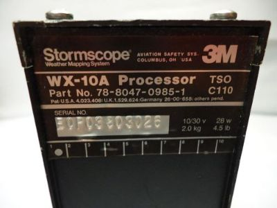 Find 3M Stormscope 78--8047-0985-1 WX-10A Processor - Used Avionics motorcycle in Sugar Grove, Illinois, United States