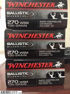 For Sale/Trade: 270 WSM Ammo