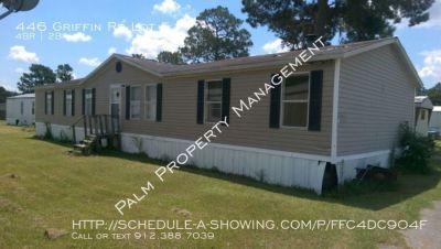 4 Bedroom & 2 Bath Double Wide Mobile Home For Rent