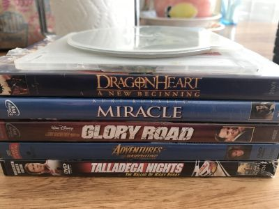 7 pack of miscellaneous DVDs