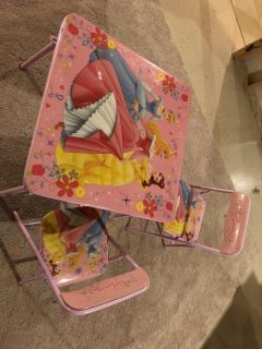 Disney princess folding table and chairs