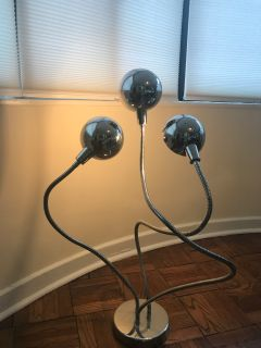Mid Century Modern Stylish Chrome Lamp