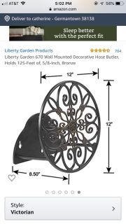 Water hose wall mount $25