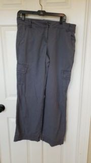 Ladies size 10 gray cargo pants