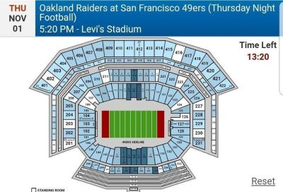 49er vs. Raiders November 1st (Levi Stadium)
