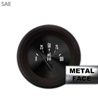 Buy Oil Pressure Gauge - SAE American Classic Black V, Black Modern Needles motorcycle in Portland, Oregon, United States, for US $36.00