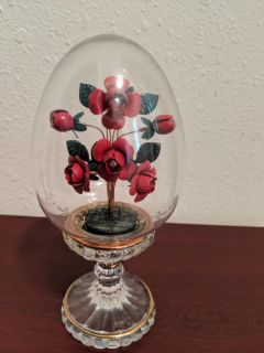 Red decorative egg