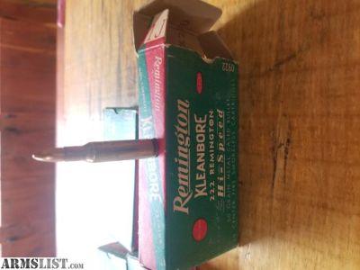 For Sale: Vintage .222 remington ammo