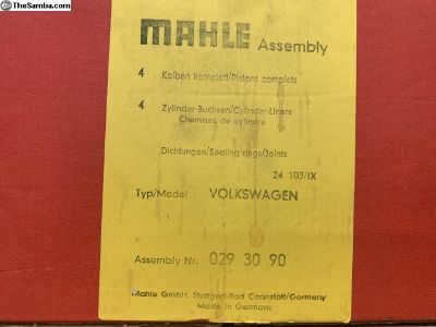 Nos Mahle 85.5 made in German pistons and cyl