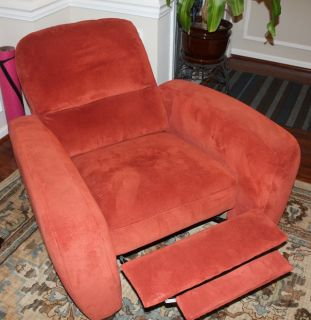 Brick red chair
