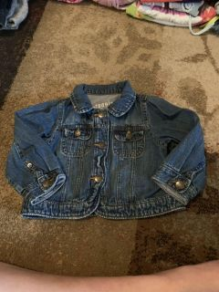 Baby gap 12-18m Jean jacket - ppu (near old chemstrand & 29) or PU @ the Marcus Pointe Thrift Store (on W st)