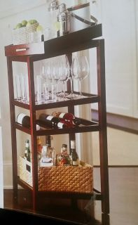3rd REDUCTION Threshold Wine Storage Tower Rack n Serving Tray (New already Assembled)