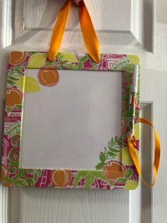 Lilly Pulitzer dry erase board with pen. Porch Pick up Available. Staples Mill at 295.