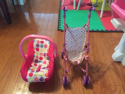 Baby doll stroller and carrier (missing cross strap)