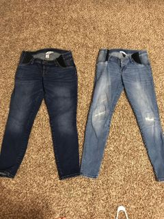 Size S Maternity Jeans, 2 pairs