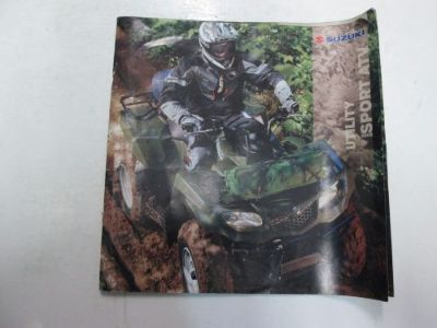 Sell 2008 Suzuki utility Sports ATV Sales brochure Manual WORN FACTORY OEM DEALERSHIP motorcycle in Sterling Heights, Michigan, United States, for US $24.99