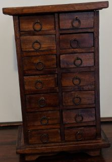 14 Drawer Desk Storage Or Jewelry/Trinket Box Holder
