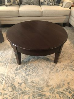 CROSS POSTED Round coffee table