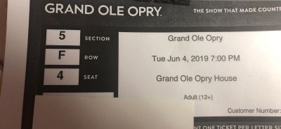 Opry CMA week Best night ever!! 4 floor seats all together
