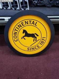Original Continental Tire Sign Bug, Bus, Porsche