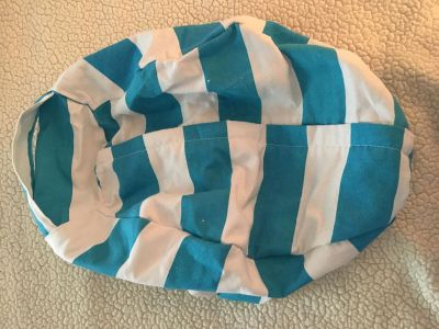 Awesome zip up canvas bag, stuff stuffed animals or blankets inside and make a poof/bag you can sit on, new never used!