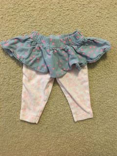 Cute skirt with pants 3mth