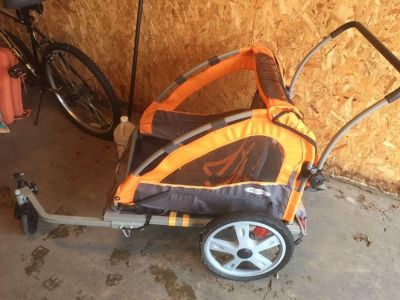 Instep quick and easy bike trailer fits two!