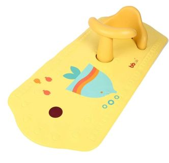 BBCare Non-Slip Safety Play Seat with Extra Long Play Mat (Yellow_Fish)